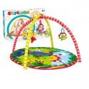 Детский игровой коврик круглый с погремушками на подвеске 8886