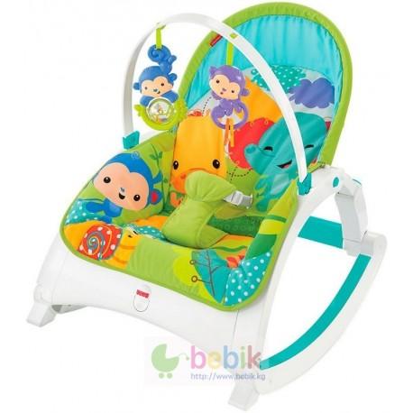 Шезлонг-кресло-качалка Music Portable Rocker (Fitch Baby) Зоопарк