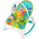 Шезлонг-кресло-качалка Music Portable Rocker (Fitch Baby) Зоопарк 0+