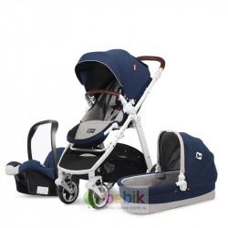 Детская модульная коляска-трансформер COOL BABY 3 в 1 (зима-лето)