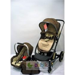 Коляска-трансформер Pierre Cardin PS 06 с автолюлькой и сумкой для мамы (зима-лето)