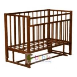 Детская кроватка с поперечным маятником - 317 ( цвет темный орех )