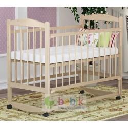 """Детская кроватка 322 """"Колибри"""" с опускаемой передней стенкой (цвет берёза)"""