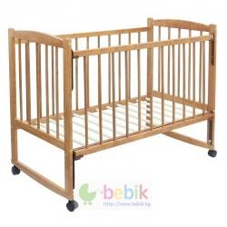 """Детская кроватка """"Колибри"""" с опускаемой передней стенкой (цвет орех)"""