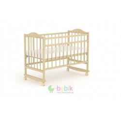 """Детская кроватка """"Фея"""" с качалкой (цвет натуральный)"""