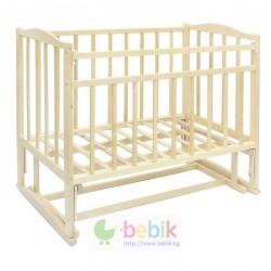 Детская кроватка с поперечным маятником - 327 (цвет - светлая берёза)