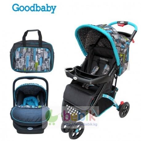 Коляска Goodbaby 209 (с автолюлькой и сумкой) зима-лето